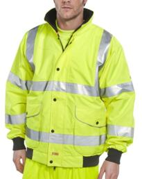 HiVis B-Dri Breathable Bomber Jacket - Yellow