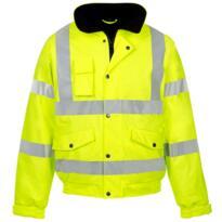 HiVis PU Storm-Flex Bomber Jacket - Yellow