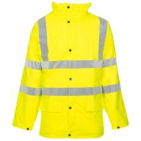 HiVis Storm-Flex PU Padded Parka Jacket - Yellow