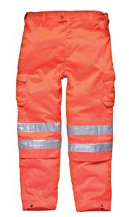 Dickies SA45010 Hi-Vis GO/RT Basic Polycotton Trou - Orange