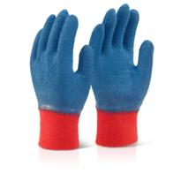 Latex Fully Coated Gripper Glove - Blue