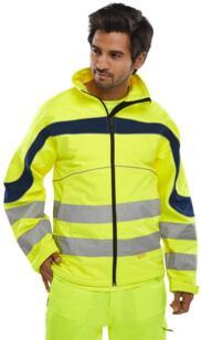 HiVis Eton Softshell Jacket - Yellow