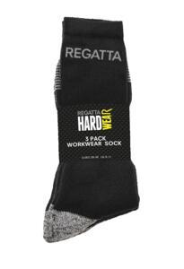 Regatta Classic 3 Pack Sock - Black