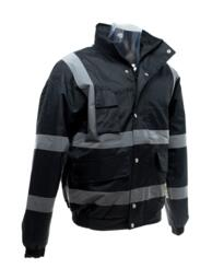 HiVis Security Bomber Jacket - Black