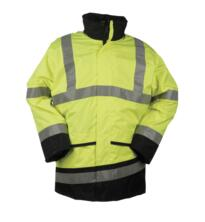 HiVis Sioen Barcley Interactive Parka Jacket - Yellow