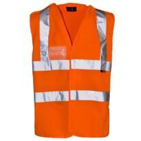 HiVis Pull Apart Vest - Orange
