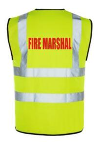 Hi Vis FIRE MARSHAL Vest - Yellow