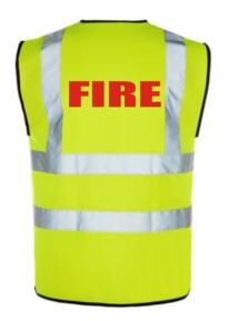 Hi Vis FIRE Vest - Yellow