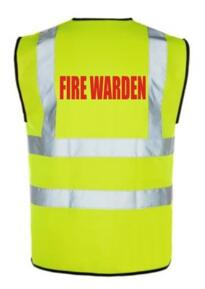 Hi Vis FIRE WARDEN Vest - Yellow