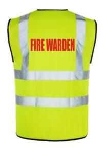 HiVis FIRE WARDEN Vest - Yellow