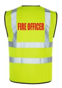 Hi Vis FIRE OFFICER Vest - Yellow