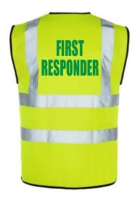 HiVis FIRST RESPONDER Vest - Yellow