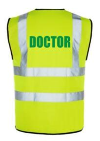Hi Vis DOCTOR Vest - Yellow