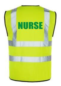HiVis NURSE Vest - Yellow