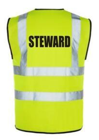 HiVis STEWARD Vest - Yellow