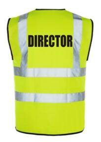 Hi Vis Director Vest - Yellow