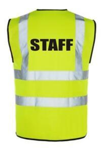 HiVis STAFF Vest - Yellow