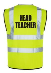 HiVis HEAD TEACHER Vest - Yellow