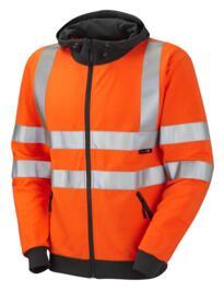HiVis GO/RT Full Zip Hooded Sweatshirt - Orange