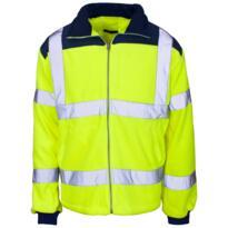 HiVis Rainpatch Fleece Jacket - Yellow