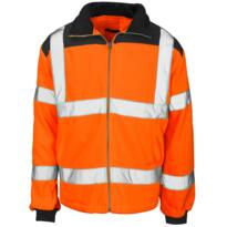 HiVis GO/RT Rainpatch Fleece Jacket - Orange
