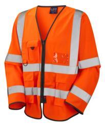 HiVis GO/RT Long Sleeved Executive Vest - Orange