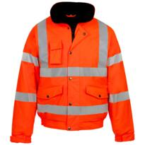 HiVis GO/RT PU Storm-Flex Bomber Jacket - Orange