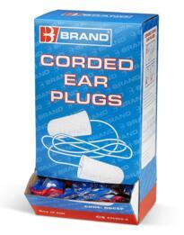 B-Brand Corded Foam Ear Plugs - Box 200