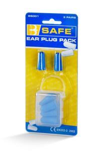 B-Safe Foam Ear Plugs - Pack of 3