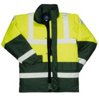 HiVis Medics Contrast Parka Jacket - Yellow / Green