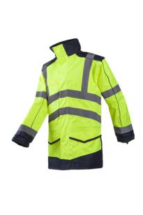 HiVis Sioen Anfield Interactive Parker Jacket - Yellow