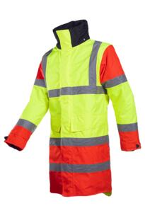 HiVis Sioen Thoras Parka Jacket - Yellow