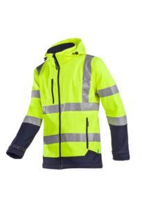 HiVis Sioen Fuller Softshell Jacket - Yellow