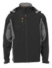 JCB Stretton Soft Shell Jacket - Black/Grey