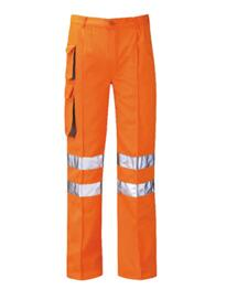 Hivis 2 Band GO/RT Combat Trousers - Orange