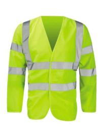 Hivis Long Sleeved Vest - Yellow