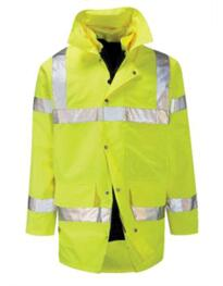 Hivis 4 in 1 Parka Jacket - Yellow