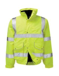 Hivis Executive Bomber Jacket - Yellow