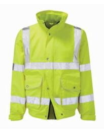 Hivis Breathable Bomber Jacket - Yellow