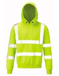 Hivis Hooded Sweatshirt - Yellow