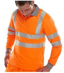 GO/RT Long Sleeved Polo Shirt - Orange
