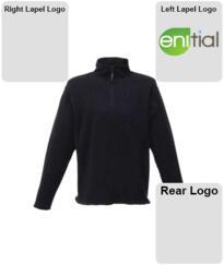 Enitial Micro Zip Fleece Jacket [Embroidered] - Black