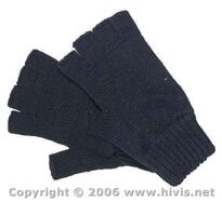 Thermal Fingerless Gloves - Black