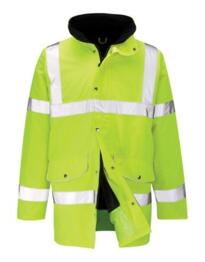 Hi Vis Deluxe Parka Jacket - Yellow