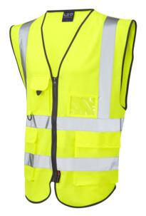 Hi Vis Executive Sleeveless Vest - Yellow