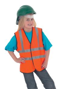 CLEARANCE STOCK - Hi Vis Childrens Vests - Blue