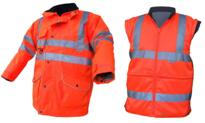 Hi Vis 7-in-1 Jacket - Orange