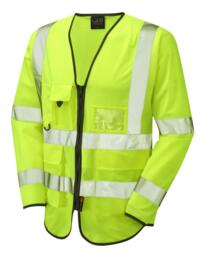 HiVis Long Sleeved Executive Vest - Yellow