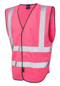 Hivis Sleeveless Coloured Vests - Pink