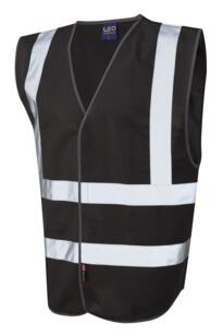 Hi Vis Sleeveless Coloured Vests - Black